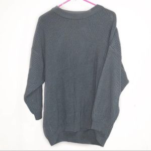 Roamans chunky knit 2X Grey pullover sweater